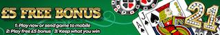 mFortune mobile Blackjack free bonus no deposit